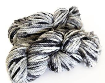 Midnight Weave Co Hand Dyed Yarn - Aran weight fine merino wool - One Mini Skein (at least 25g each) - ESSENCE