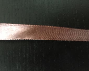 Wide Brown satin ribbon 1 cm