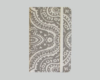 Kindle Cover Hardcover, Kindle Case, eReader, Kobo, Kindle Voyage, Kindle Fire HD 6 7, Kindle Paperwhite, Nook GlowLight Gray Damask