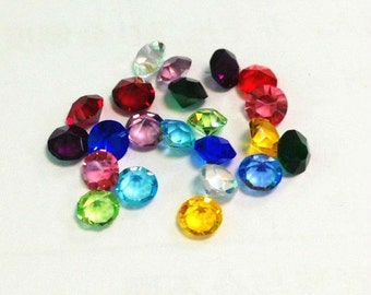 Small Floating Locket Birthstone Charms 4.2mm for Glass Floating Charm Living Memory Locket Necklaces