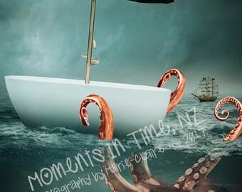 MIT Octopus Adventure Digital Background