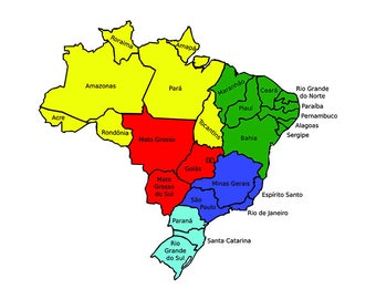 Rio de janeiro flag Etsy