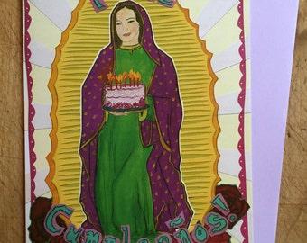 Virgin de Guadalupe Birthday Card