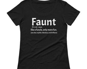 Faunt Ladies' Scoopneck T-Shirt