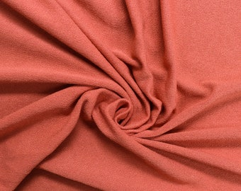 Rust Light Crepe Viscose Fabric by the yard - 550