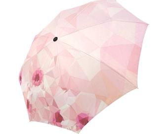 Pink Umbrella Art Umbrella Floral Designed Umbrella Geometric Umbrella Rainbow Umbrella Photo Umbrella Automatic Abstract Umbrella