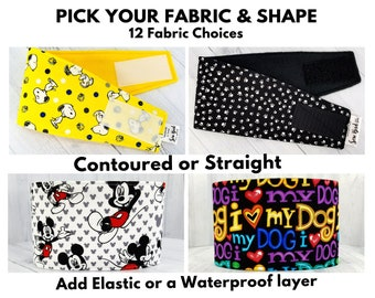 Male Dog Belly Band - Dog Diaper - Washable & Reusable - Extra Small to Extra Large - Waterproof layer option - CUSTOM ORDER