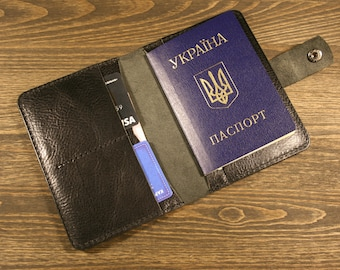 Leather Passport Cover  Personalized Wallet  Passport Holder  Travel Wallet