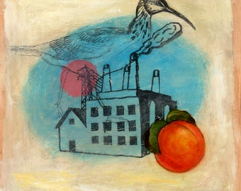 Peach [original painting]