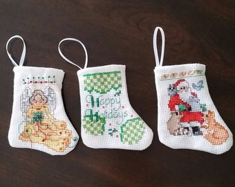 Mini Christmas Stockings Set of Three  ( Choice B )