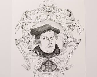 500th Anniversary of Reformation | 11x14 Illustration Print