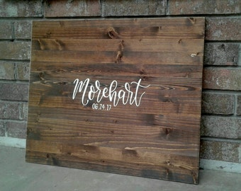 SALE!!! Alternative Guest Book // Wood Guest Board // Wedding Sign In // Custom Name and Date Sign