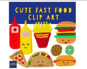 Cute Fast Food Clip Art