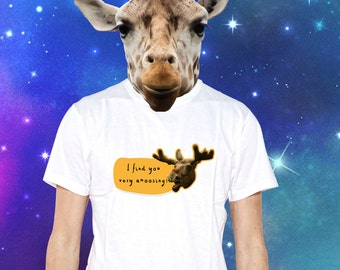 I find you very amoosing Funny moose t-shirt for Animals Pets Fans - perfect for Xmass Gift