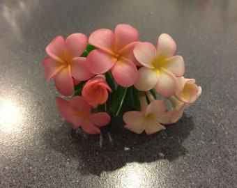 Handmade polymer clay flowers