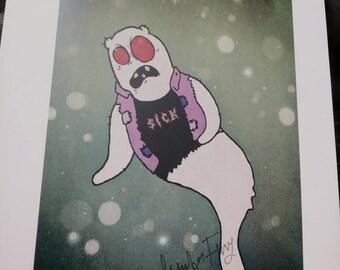 Ghost in Vest Print