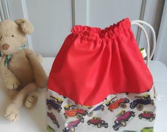 Sac enfant  personnalisé garçon voitures, sac de change maternelle, sac enfant personnalise, cadeau de naissance personnalisé sac de crèche