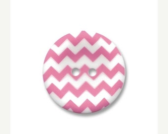 Summer Clearance Riley Blake Carded Chevron Button Set of 4 in Hot Pink