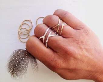 Twist Ring-Gold Ring-Silver Ring