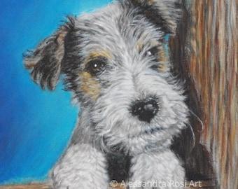 Custom Pet Portrait Oil Pastel Painting, Dog Portrait, Pet Portrait Artist, Custom Dog Painting, Dog Memorial,  Dog Art