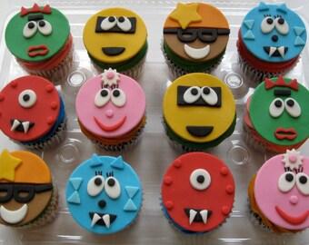 Yo Gabba Gabba Cupcake Toppers - 1 Dozen