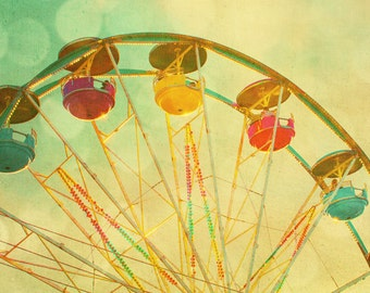 Lemon yellow citrus carnival art circus photo gumdrops fruit candy colors ferris wheel summer midway