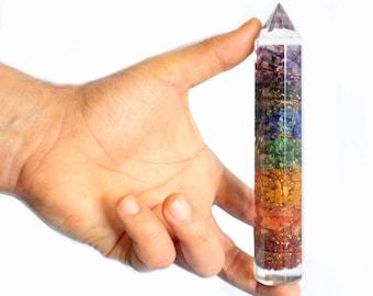 15cm copper and gemchip organite power wand
