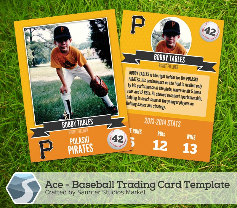 ace baseball trading card 2 5 x 3 5 photoshop
