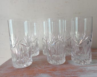 VIntage Bohemia Crystal Glasses - Set of 6 with original box - 1997 - PICK UP ONLY