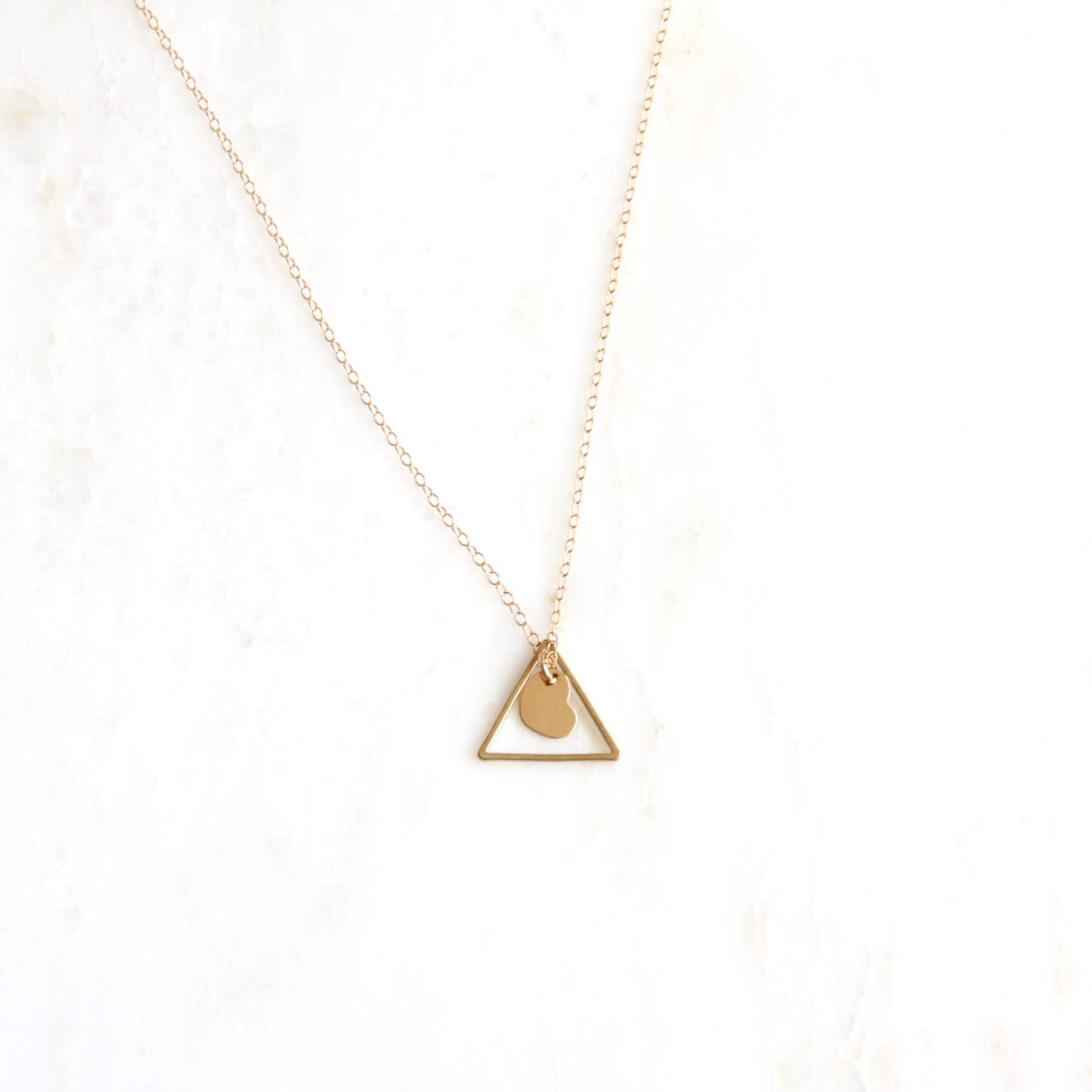 Together adoption necklace triangle necklace mothers zoom buycottarizona Image collections