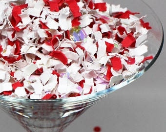 Holiday party Decor, Colorful Paper, Candy Cane Confetti, Red and White Confetti, Winter Wonderland, Party Decorations, Holiday Party