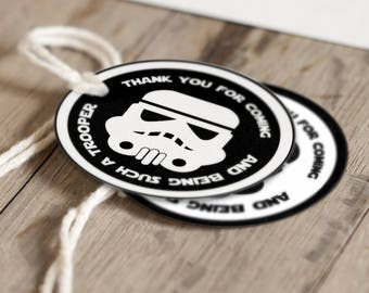 Star Wars / Storm Trooper favor tags | Star Wars party | Birthday | Baby Shower