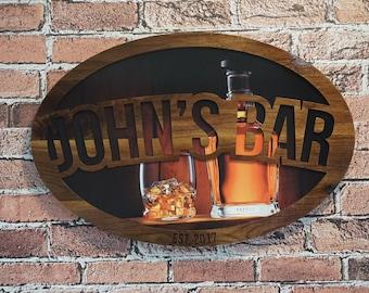 Man Cave Signs Australia : Rustic bar signs sign wood custom