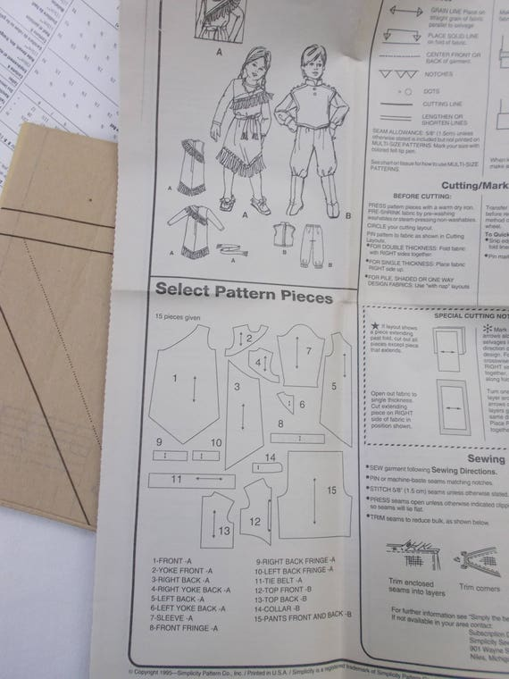 Dorable Pocahontas Sewing Pattern Elaboration - Easy Scarf Knitting ...