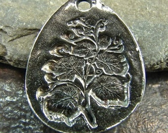 Botanical - Artisan Sterling Silver Pendant - One Piece