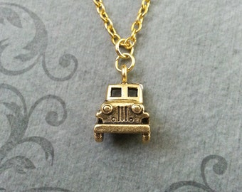Truck Necklace SMALL Vintage Truck Jewelry Classic Truck Charm Necklace Farmer Gift Trucker Gift Gold Truck Gift Car Necklace Car Jewelry