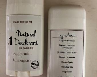 Aluminum-Free Charcoal Deodorant