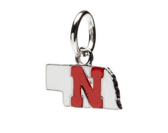 University of Nebraska Pendant | Nebraska Jewelry | Nebraska Cornhuskers Charm | Officially Licensed by University of Nebraska