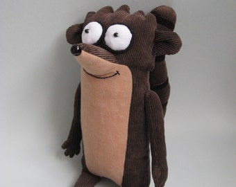 Plush Rigby from Regular Show.Soft Toy