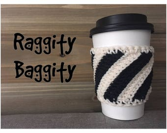 Simple Black and White Coffee Cozy
