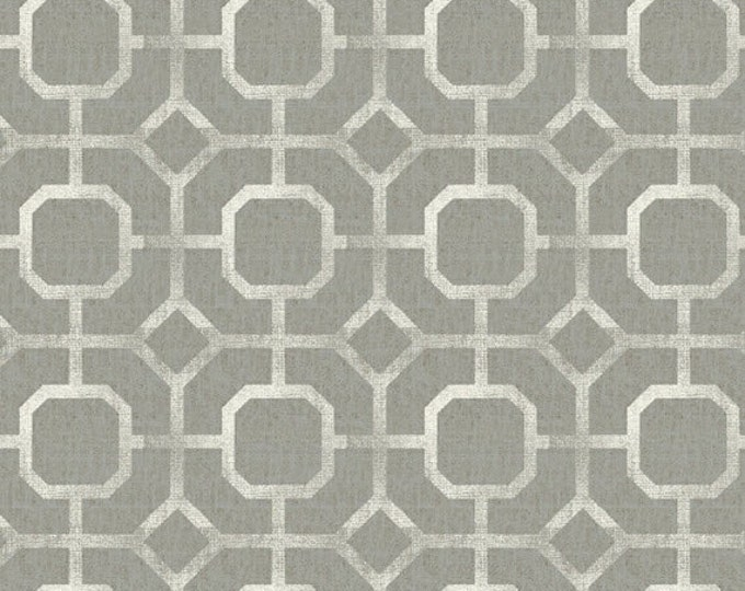 One Yard Hidden Cove - Tile in Grey Gray - Cotton Quilt Fabric - by Sue Schlabach for Windham Fabrics - 40433-3 (W3032)