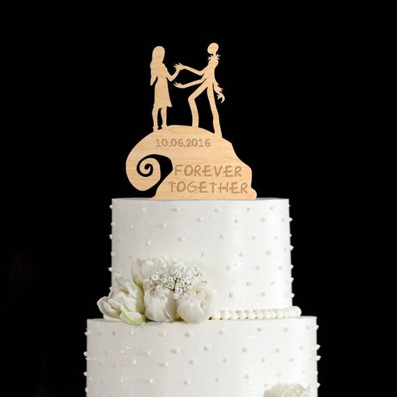 Nightmare before christmas wedding cake topperjack