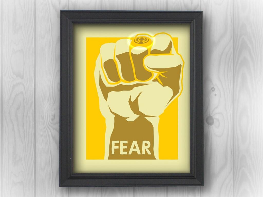 Yellow Lantern, Green, fear, ring, DC comics, superheroes, Justice ...