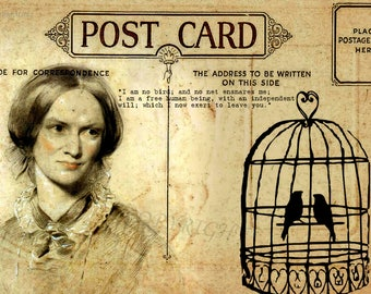 Jane Eyre postcard art