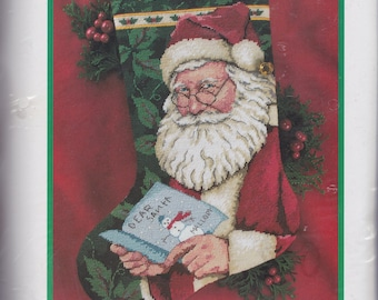 Dimensions Dear Santa Letter Ivy Christmas Needlepoint Stocking Kit 9107 E