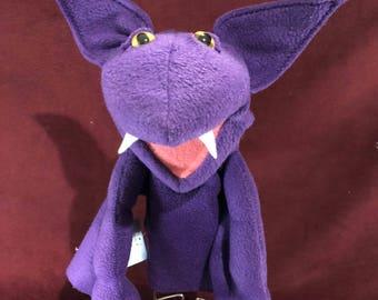 Bat Hand Puppet Purple