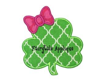 Digital Machine Embroidery Design -  St. Patrick's Day Leprechaun Shamrock Applique
