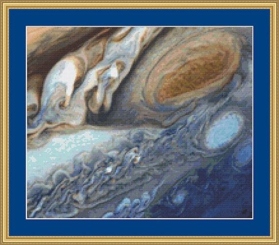 Storm On Jupiter Cross Stitch Pattern /Digital PDF Files /Instant downloadable