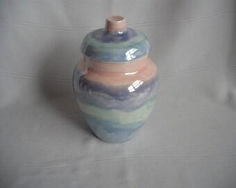 Medium Ceramic Cremation Urn / Mother of Pearl