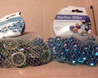 marbles/billies glass disk/billies  unique crafting for planters etc